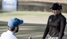 LPGA Tour pro finishes round as boyfriend comes onto green to propose!