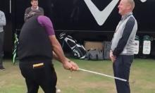 phil mickelson flops shot two feet in front of man at the open