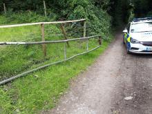 Police hunt for car seen shredding up golf course