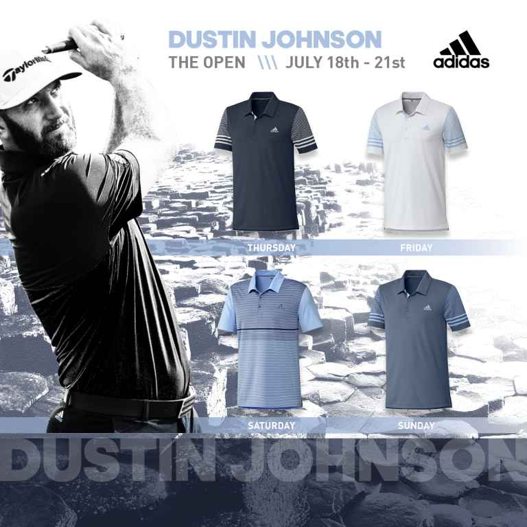adidas Golf reveals Dustin, Sergio and Xander scripting for The Open