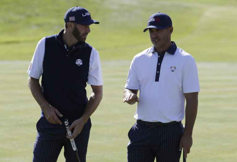 Dustin Johnson and Brooks Koepka get into fight after Ryder Cup defeat