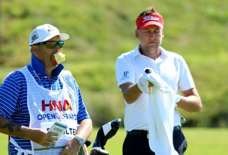 Who caught this awesome exchange between Ian Poulter and his caddie