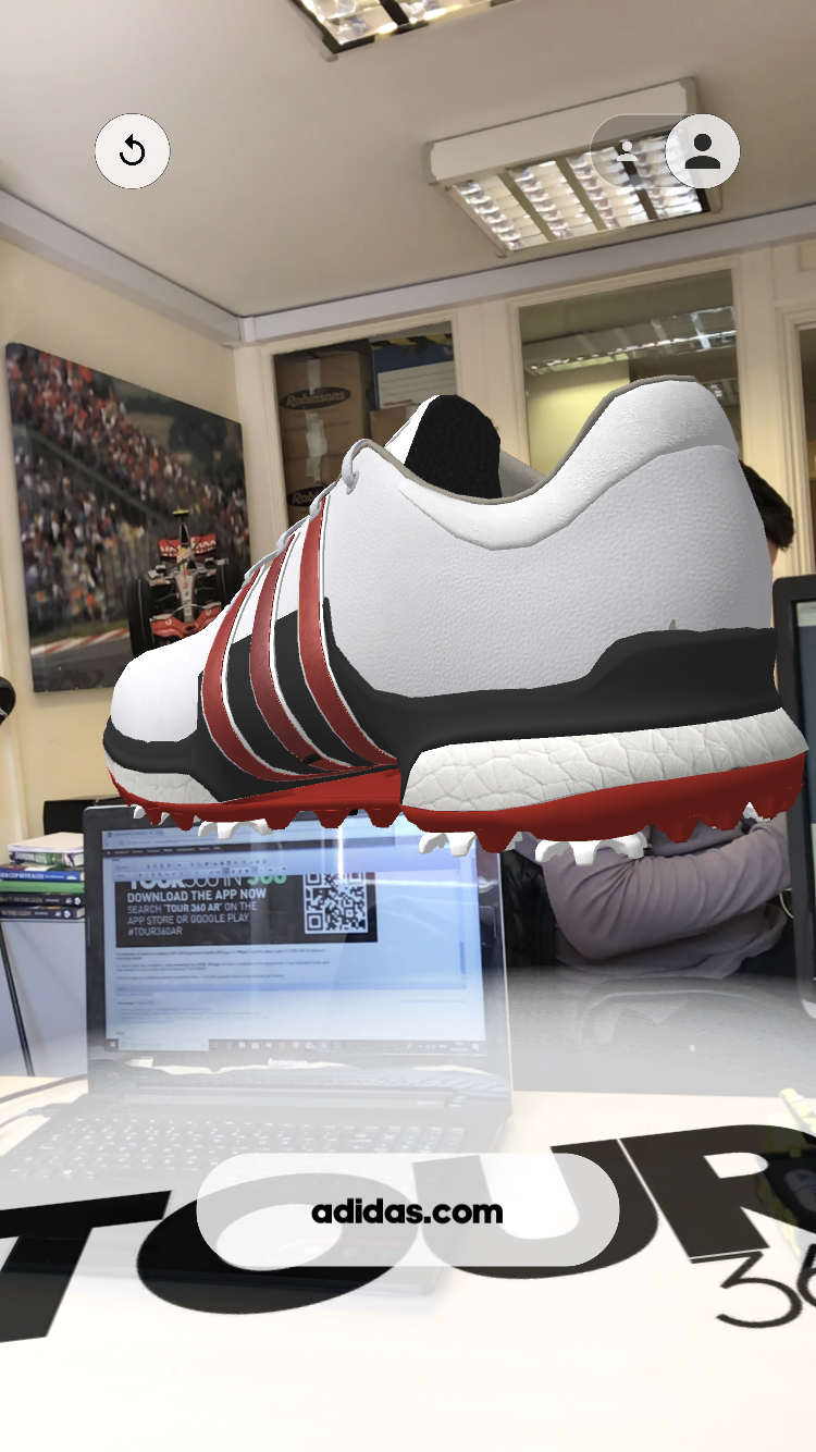WIN! adidas Golf TOUR 360 2.0 shoes - just download the Tour 360 AR app!