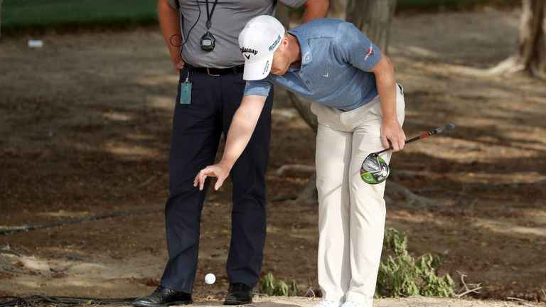 When your drop hits your foot - what's the golf rule in this scenario?