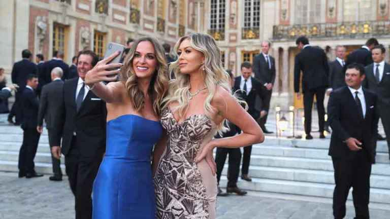 Ryder Cup stars dress up for gala dinner with WAGS