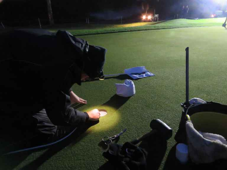 """Golf course manager on golfers putting with flag in: """"It's a gimmick!"""""""