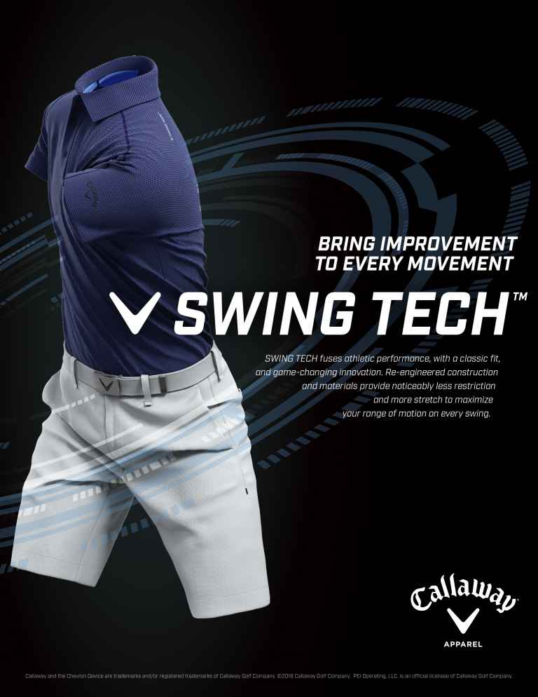 Callaway Apparel introduces SWING TECH technology