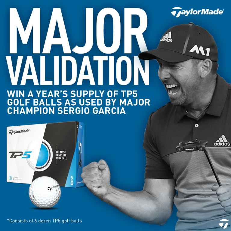 WIN! a year's supply of TaylorMade TP5 balls as used by Sergio Garcia!