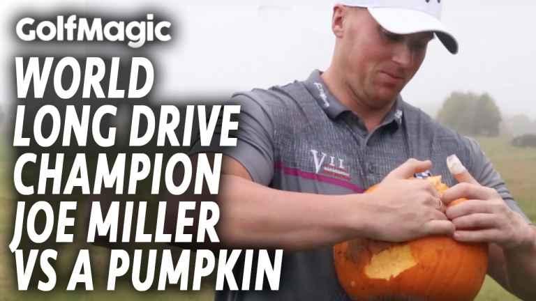 WATCH: World Long Drive champion Joe Miller vs A Pumpkin!