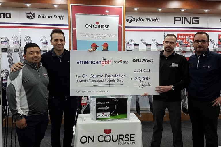 American Golf customers raise £20k for On Course Foundation