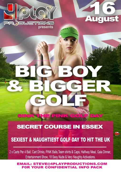 """""""Sexy, naughty golf day"""" with """"naked bar ladies"""" is causing outrage..."""
