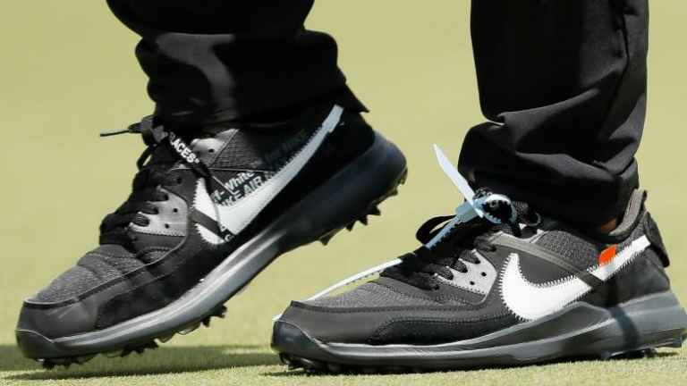 What's that weird thing attached to Brooks Koepka's Nike shoes?
