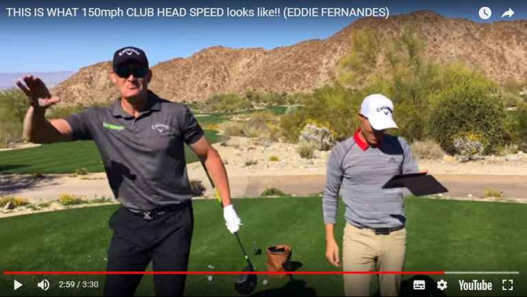 Golf Driving Tips: THIS is what 150mph clubhead speed looks like...
