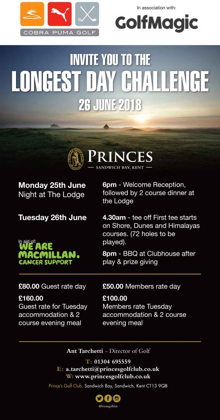 GolfMagic and Cobra Puma Golf invites you to the Longest Day Challenge