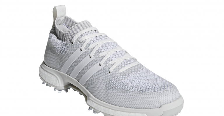 WIN! Dustin Johnson's adidas Golf Tour 360 Knit all white shoes