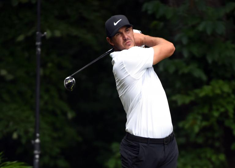 Brooks Koepka misses Wyndham cut, sends drive into someone's back lawn