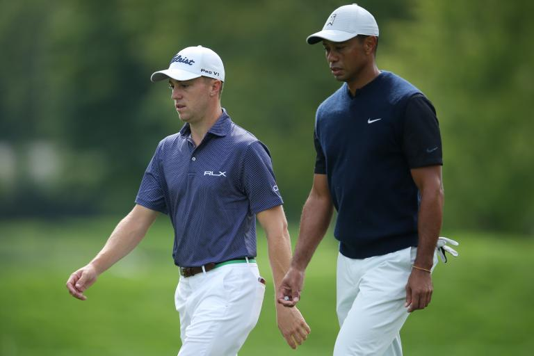 Tiger Woods and Justin Thomas beat Rory McIlroy and Justin Rose to win Payne's Valley Cup
