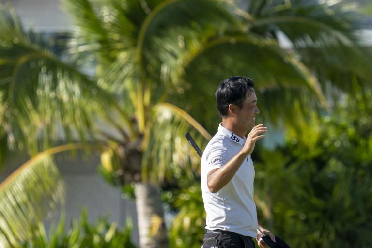 Golf fans react to Kevin Na's UNIQUE LOGO on his polo shirt