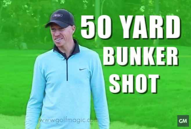 how to play the 50 yard bunker shot