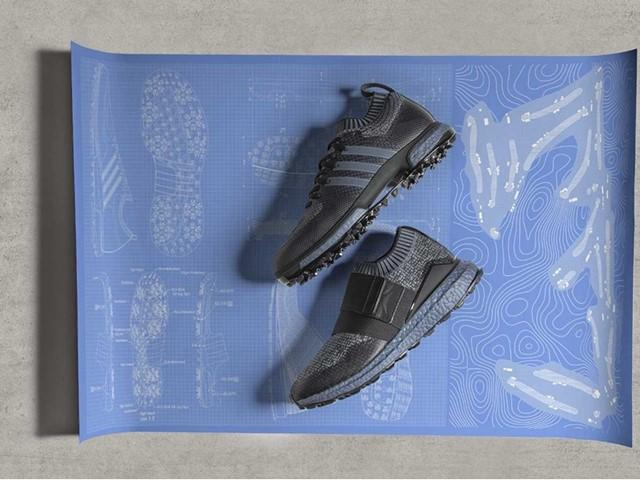 premium selection 1a934 2b63a adidas launch limited edition blue BOOST golf shoe