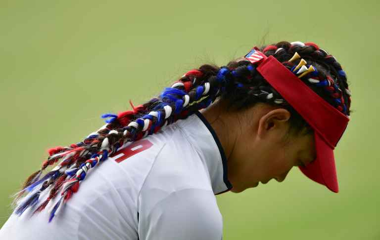 michelle wie goes all out on hair and shoes at solheim cup