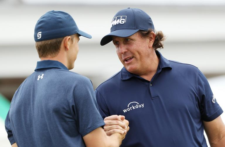 Mickelson's hilarious response to music singer at Spieth's wedding...