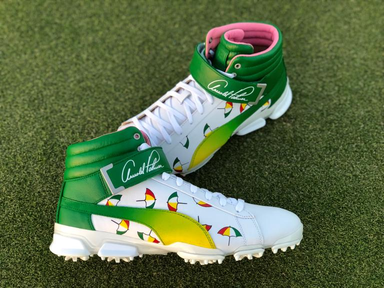 Puma and Arnie s Army partner to raise money for charity with custom shoes  and hats d525fadc5
