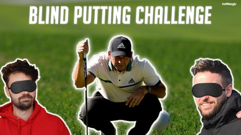 Sergio Garcia Blind Putting Challenge | Is putting with your eyes closed better?