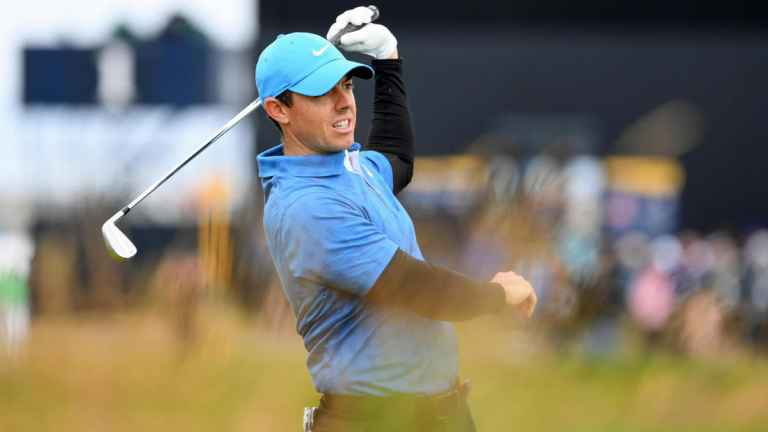 WATCH: Rory McIlroy ends day one of The Open with triple bogey