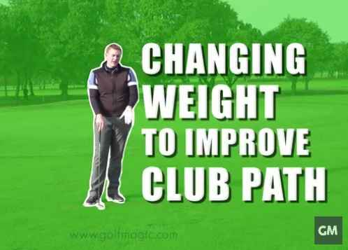 how to shift weight to improve club path
