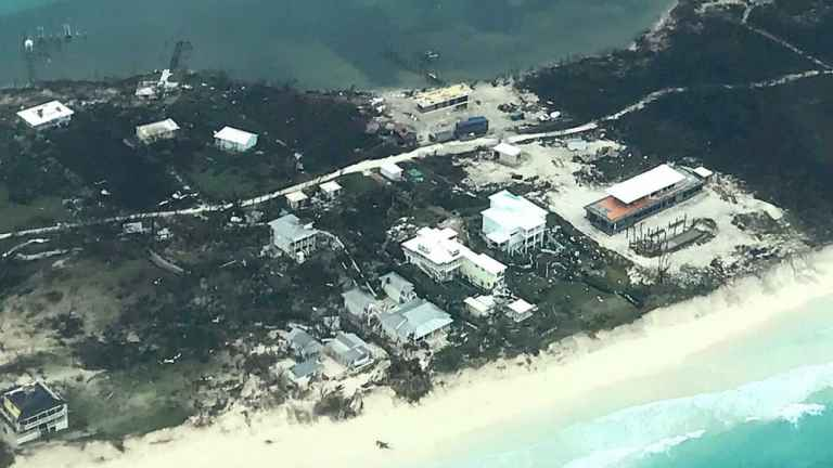 The Abaco Club hit by Hurricane Dorian
