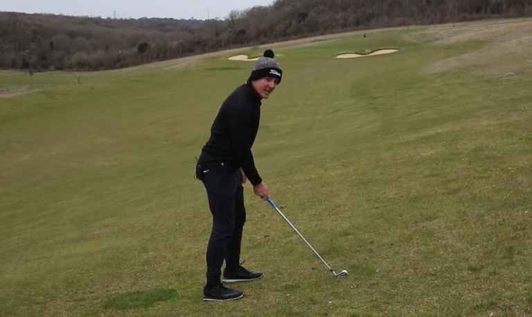 How to hit SOLID iron shots with the ball above your feet