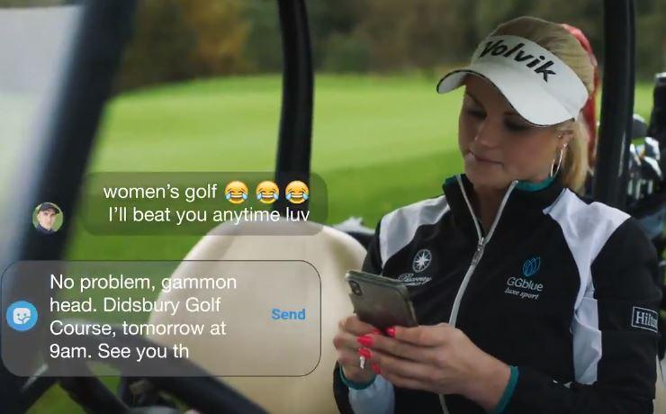 Carly Booth stars in BRILLIANT Paddy Power advert that tackles sexism in golf