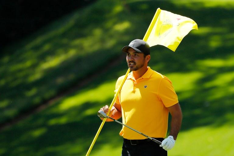 Jason Day: in the bag at the 2019 Masters