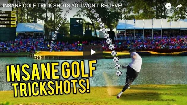 F2Freestylers join PGA Tour pros for epic golf trick shots at The Players