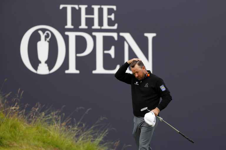 Graeme McDowell takes anger out on golf bag at The Open