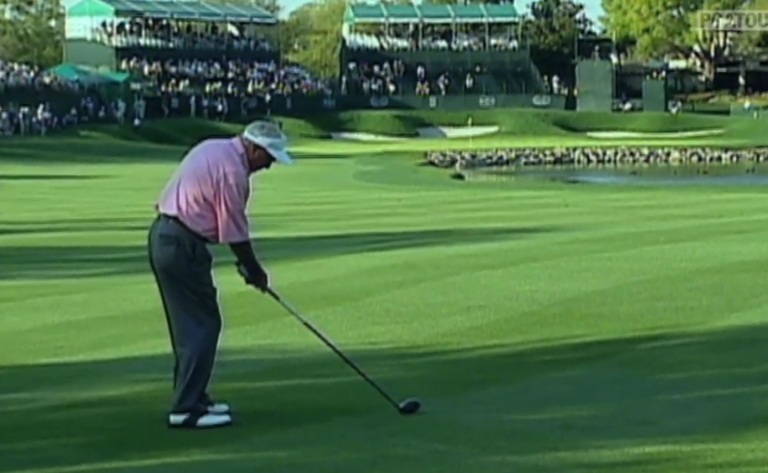 WATCH: The epic Arnold Palmer DRIVER OFF DECK we'll never forget...