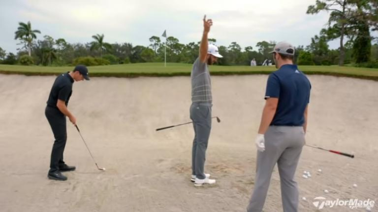 Rory McIlroy, Dustin Johnson, Jon Rahm talk how to hit bunker shots