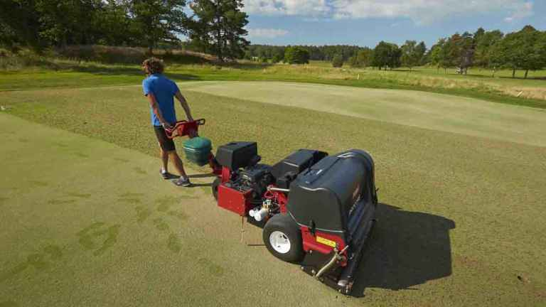 What is the toughest thing a golf greenkeeper has to do?