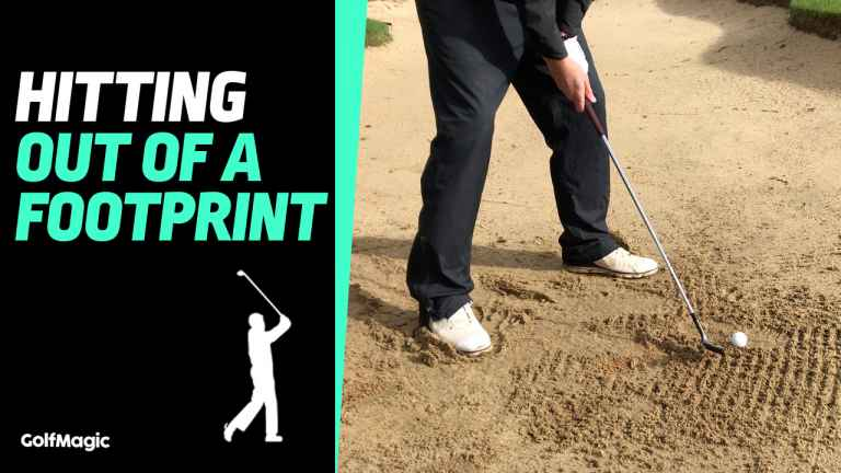 How to hit out of a footprint in a bunker