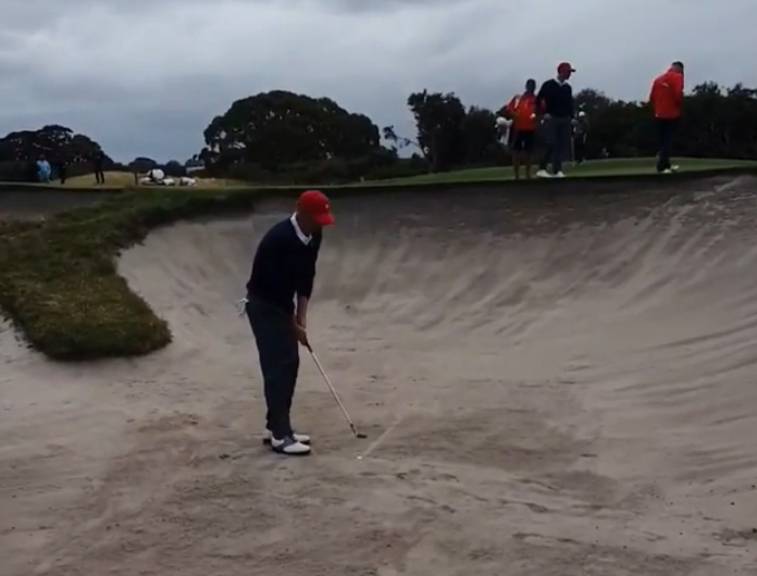 Justin Thomas ROASTS Patrick Reed in the bunker at Presidents Cup