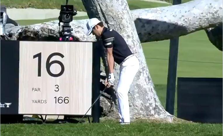 Golfer makes HOLE-IN-ONE at Genesis Invitational to win THIRD car in FOUR months