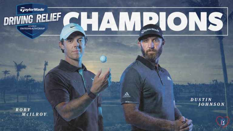 Rory McIlroy and Dustin Johnson win TaylorMade Driving Relief