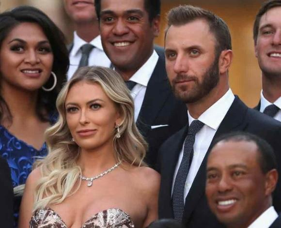 Ryder Cup stars and WAGS dress up for gala dinner; Dustin Johnson back with Paulina Gretzky