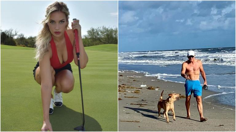 "Paige Spiranac calls Greg Norman the ""hammerhead shark"" after he posts beach pic"