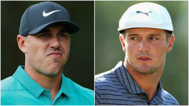 Brooks Koepka and Bryson DeChambeau discuss slow play face to face