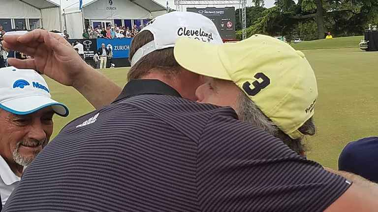 Tour pro comforts fan who yelled out in his backstroke in playoff loss