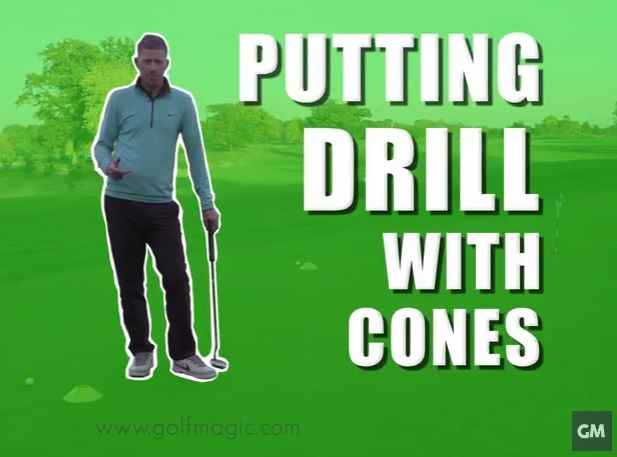 best putting drill with cones