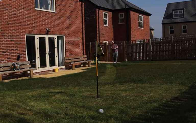 YouTube star makes mini golf course in his back garden