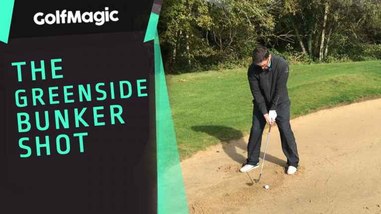 The perfect way to hit a greenside bunker shot